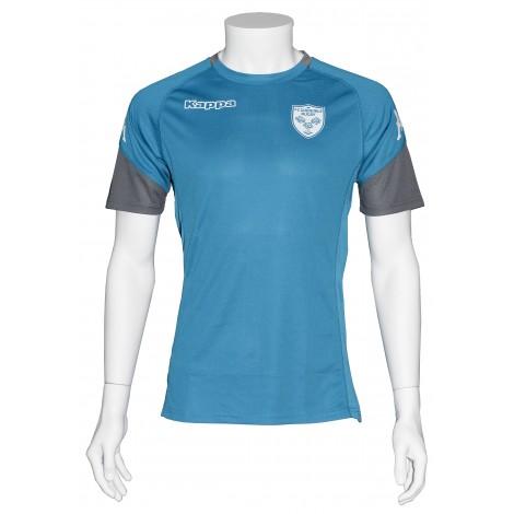 T-shirt ABOU bleu céleste/gris