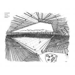 Poster Stade des Alpes 40x30