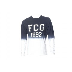 T-shirt ML TILLY  bleu/blanc