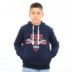 Sweat capuche SALVY bleu junior