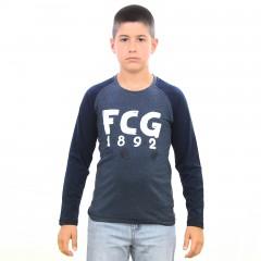 T-shirt Manches Longues LINSON bleu junior
