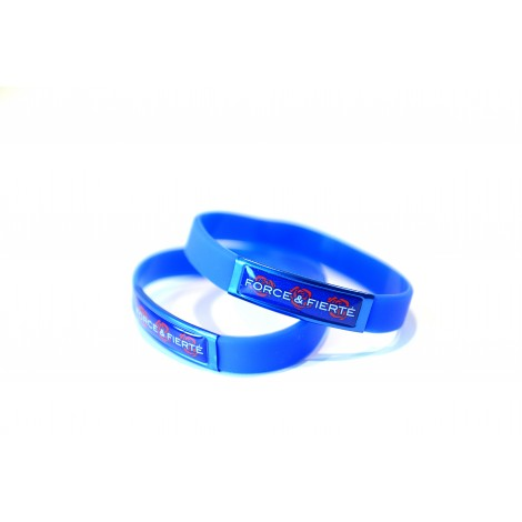 Bracelet silicone plaque