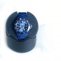 Montre silicone bleue