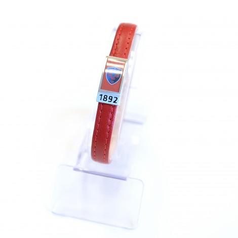 Bracelet Mood'S cuir rouge