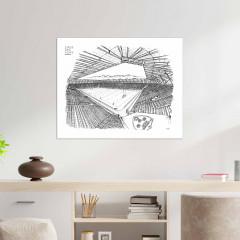 Poster Stade des Alpes 80x60