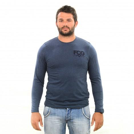 T-shirt ML LAMAR bleu chiné